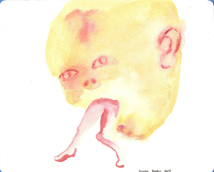 From Ego Trap series/water color on card board/21.25 cm/2014