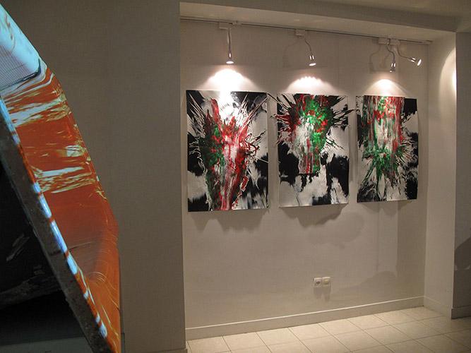 yousha bashir green white red exhibition 2012 Sazmanab platform for contemporary art installation video art