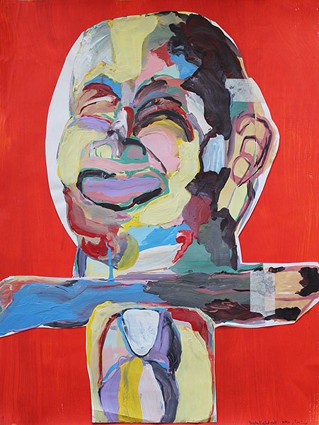 From Self Portrait series/acrylic on cardboard/50.70 cm/2011