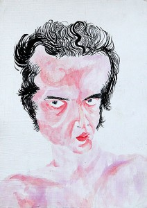 From Self portrait series/mixed media on cardboard/30.21 cm/2008