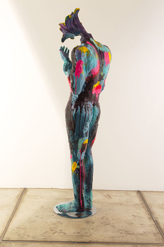 The flower man/metal, fiberglass, synthetic resin, acrylic with Transparent Color Coating /50.30.180cm/ 2014