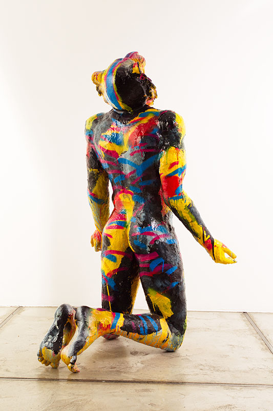 The tiger man from Beyond me series/Metal, fiberglass, synthetic resin, acrylic with transparent color coating/ 60.60.110cm /2014